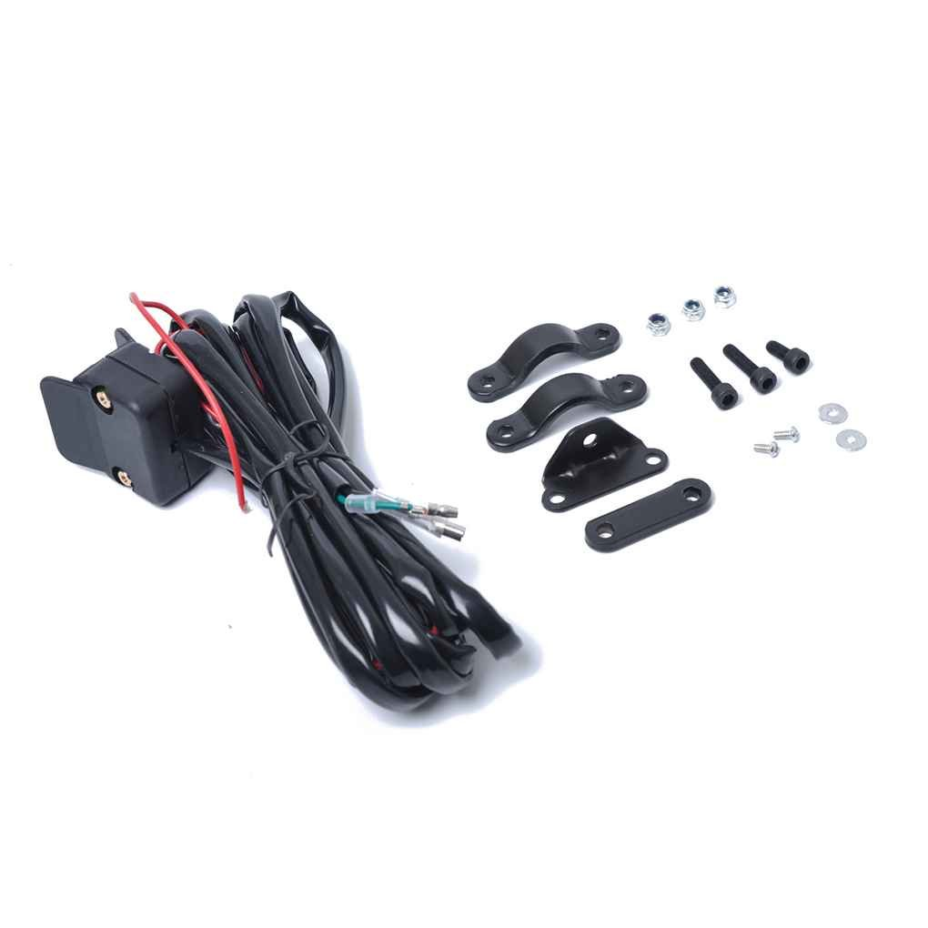 Bobury 12V Motocicleta ATV//UTV Winch rel/é de solenoide del contactor con Interruptor de balanc/ín l/ínea de Control del Manillar