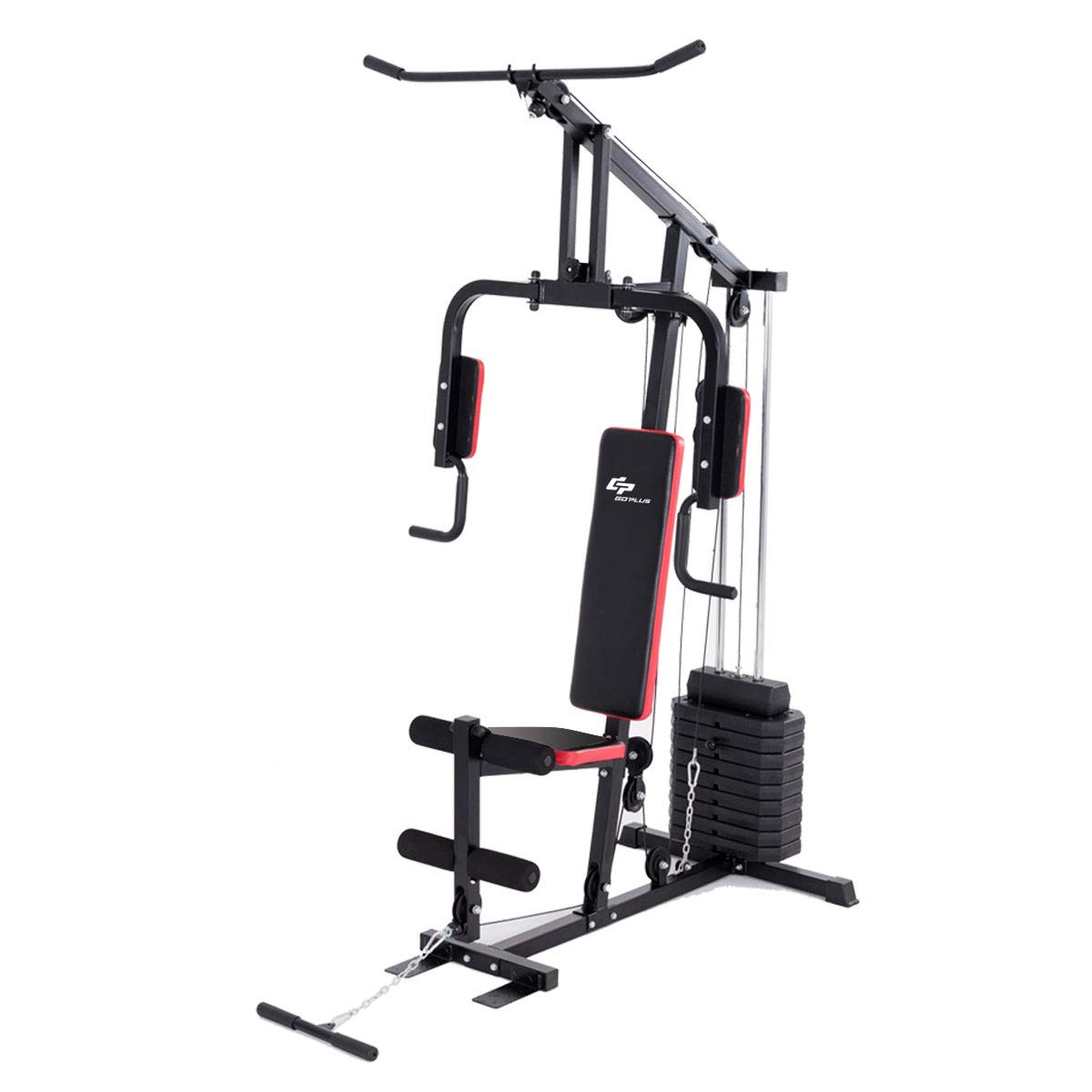 19d973dbe77 Amazon.com   Goplus Multifunction Home Gym System Weight Training Exercise  Workout Equipment Fitness Strength Machine for Total Body Training   Sports    ...