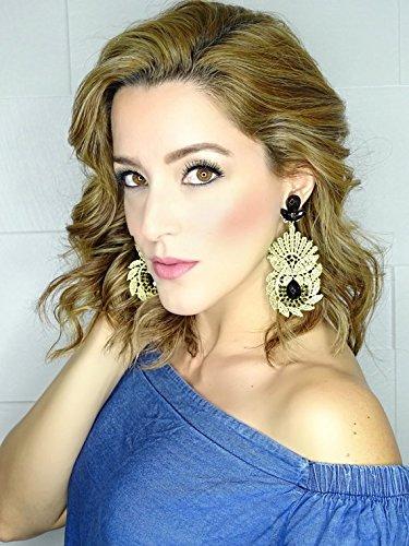 Amazoncom Boho Bridal Earrings Extra Long Earrings Boho Earring