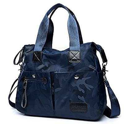 AoBao le printemps et l'été nouveau paquet de femmes, Mme Han Sac de voyage sac en toile tissu en nylon Oxford main épaule besoin partout grand paquet, camouflage bleu foncé - Moyen