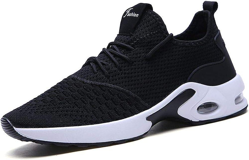 MALAXD Men's Fashion Air Cushion Mesh Comfortable Sneakers Road Running Walking Shoes (6.5-10)