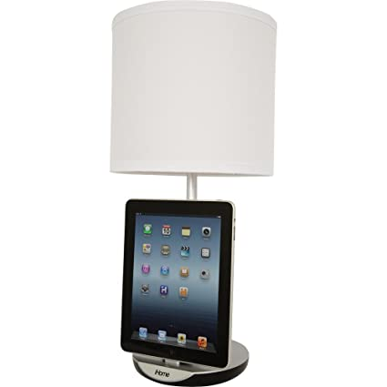 Great IHome Table Lamp With Charging Dock For IPod, IPhone, And IPad IHLC120