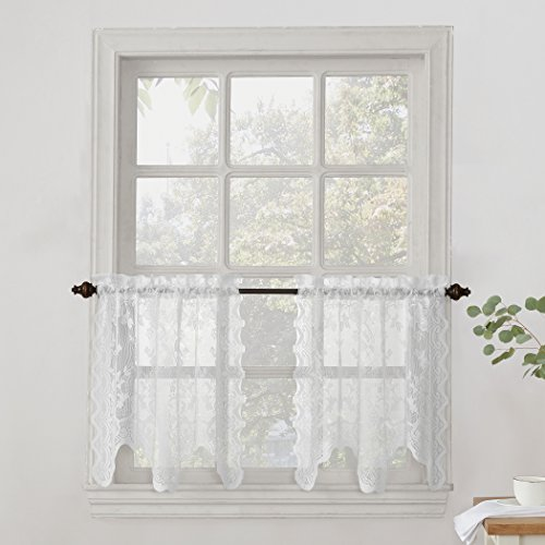 No. 918 Alison Sheer Lace Kitchen Curtain Tier Pair, 58