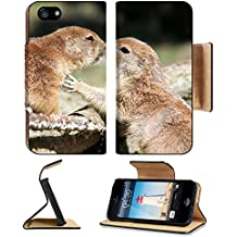 MSD Premium Apple iPhone 5 iphone 5S Flip Pu Leather Wallet Case iPhone5 Kissing Prairi dogs 36132860