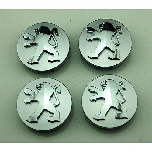 4pcs W055 60mm Car Styling Accessories Emblem Badge Sticker Wheel Hub Caps Centre Cover PEUGEOT 206 207 307 301 308 408 508 3008