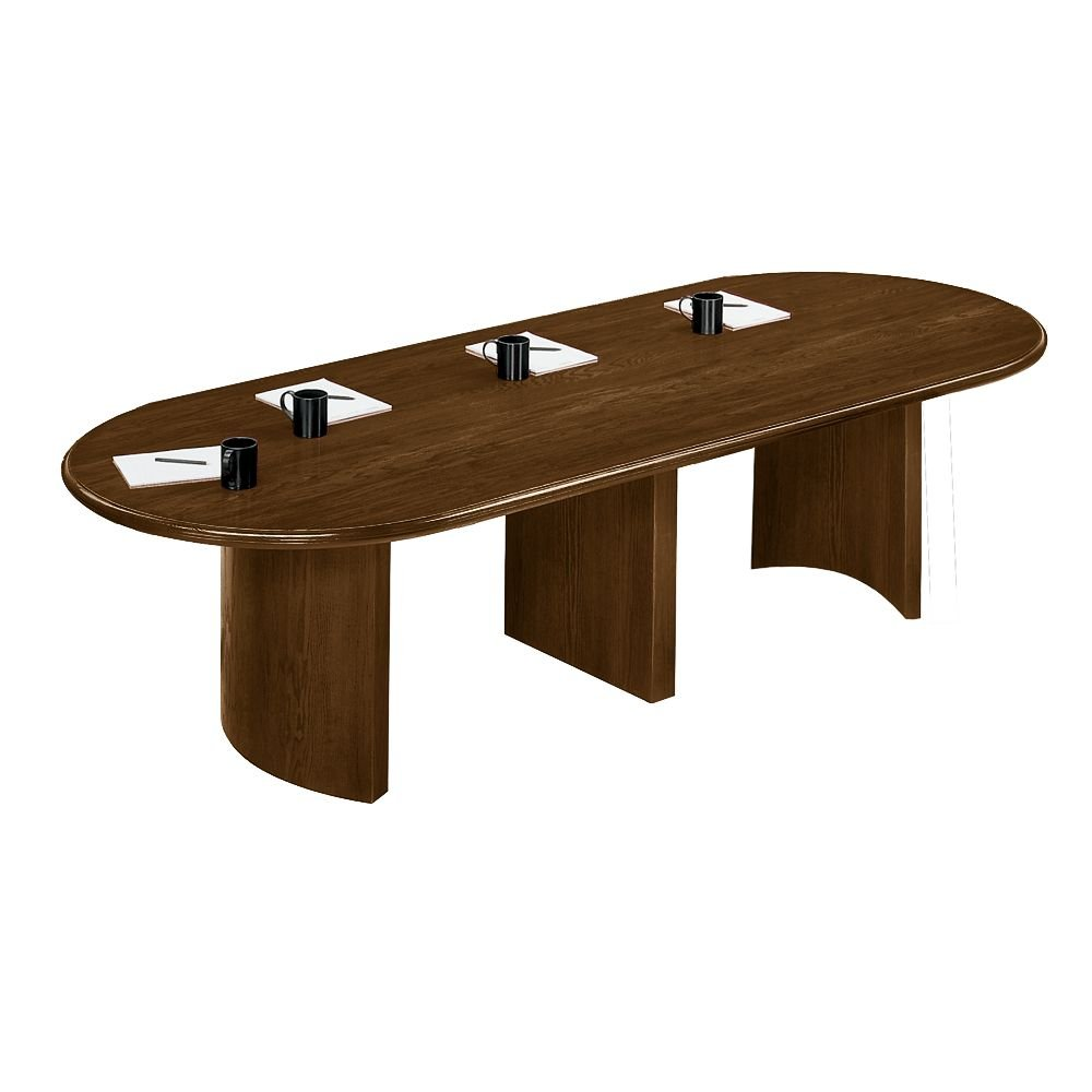 "Contemporary 10"" Oval Conference Table Dimensions: 120""W x 46""D x 29.5""H Weight: 195 lbs Walnut"