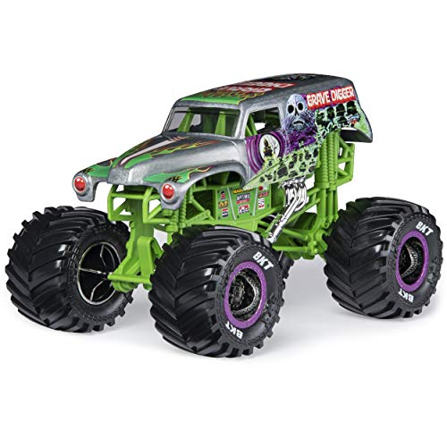 Monster Jam, Official Grave Digger Monster Truck, Die-Cast Vehicle, 1:24 Scale