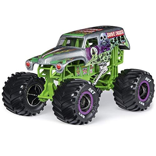 Monster Jam, Official Grave Digger Monster Truck, Die-Cast Vehicle, 1:24 Scale (Die Cast Monster Trucks)