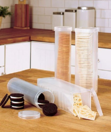 Good Cookie And Cracker Storage Container One Round And One Square   Keep Them  Stay Fresh Longer