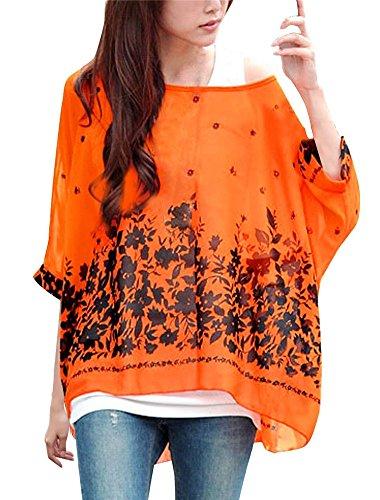 Batwing Bohme Shirt Blouse Manches 3 Hhippie Hippie Soie Tops Color15 JLTPH T Mousseline 4 de Chemise en Femme HvCfqqnSw