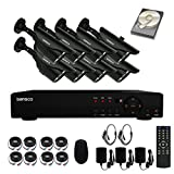 SANSCO 8-Channel 1080N DVR Recorder CCTV Security System with 8x Super HD 1.0MP Outdoor Cameras and 2TB Hard Drive (1280x720 Bullet Cam, Rapid USB Storage Backup, Vandal and Water-Proof Body)
