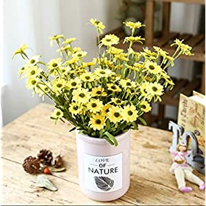 NOMSOCR 10 Pieces Daisy Artificial Fake Flower for Wedding Home Office Party Hotel Restaurant Patio Decor or Yard Decoration 31