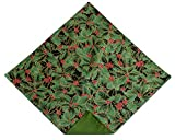 Pocket Square Christmas Holly in Green & Red Handkerchief for Baby to Men (MENS)