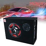 """6 inch 12V 350W Black Ultra-Thin Under-Seat Car Active Subwoofer Speaker, 6"""" Subwoofer Enclosure"""