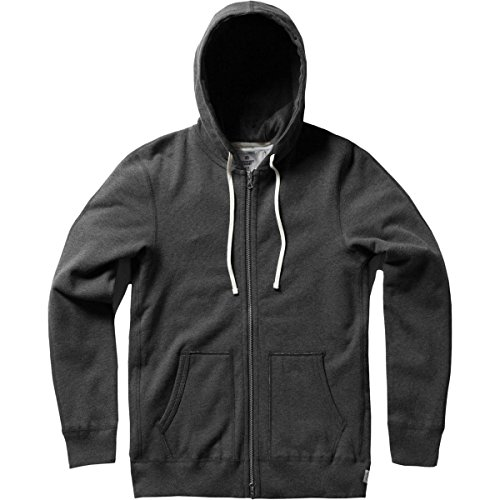 - Reigning Champ Men's Mid Weight Terry Full Zip Hoodie, Charcoal, Large