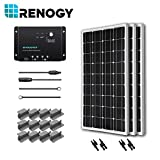 Renogy 300 Watts 12 Volts Monocrystalline Solar Starter Kit with Wanderer (Negative Grounded)
