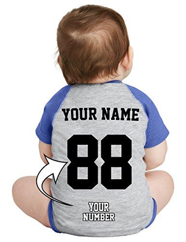 Custom Baby Baseball Jerseys & Onesies - Personalized Raglan Jersey T Shirts for Babies