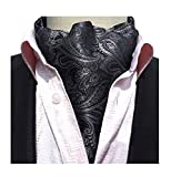 L04BABY Mens Classic Paisley Formal Suit Silk Cravat Ties Jacquard Woven Ascot