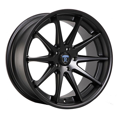 (One 19x8.5 Rohana RC10 5x114.3 35 Matte Black Wheel fit IS GS LS Lexus S2000 Evo)