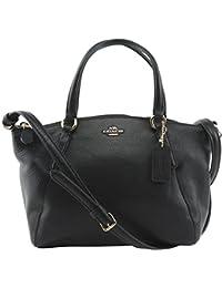 Pebble Leather Mini Kelsey Satchel Crossbody Handbag