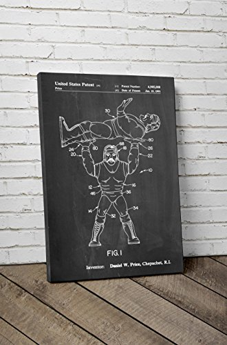 Hulk Hogan Wrestling Action Figure Patent Canvas
