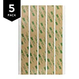 3M 468MP Adhesive Transfer Tape Strips 1'' x 10'' (5 sheet pack)