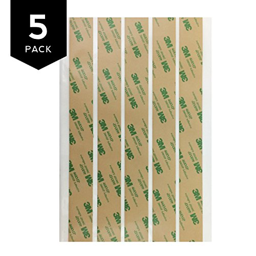3M 468MP Adhesive Transfer Tape Strips 1'' x 10'' (5 sheet pack) by Gizmo Dorks