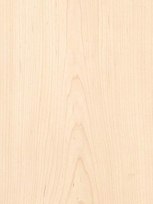 Veneer Tech White Maple Wood Veneer Plain Sliced Wood Backer 4 X 8