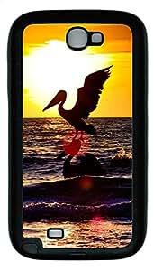 Samsung Note 2 Case Sea Stork TPU Custom Samsung Note 2 Case Cover Black