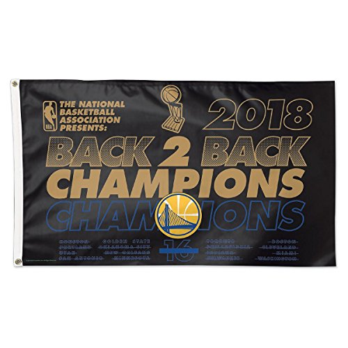 WinCraft Golden State Warriors 2018 NBA Champions Grommet Flag by WinCraft