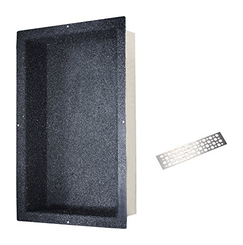 Check Out This Dawn NI241403 Stainless steel Shower Niche with One Stainless steel Support Plate