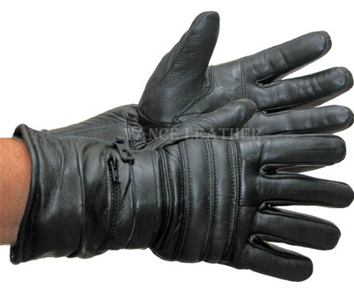 Vance Leather VL401 Gauntlet Glove with Rain Mitt (Mens Padded Leather Gauntlet Gloves)
