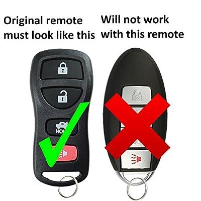 KeylessOption Keyless Entry Remote Car Key Fob for KBRASTU15 (Pack of 2): Automotive