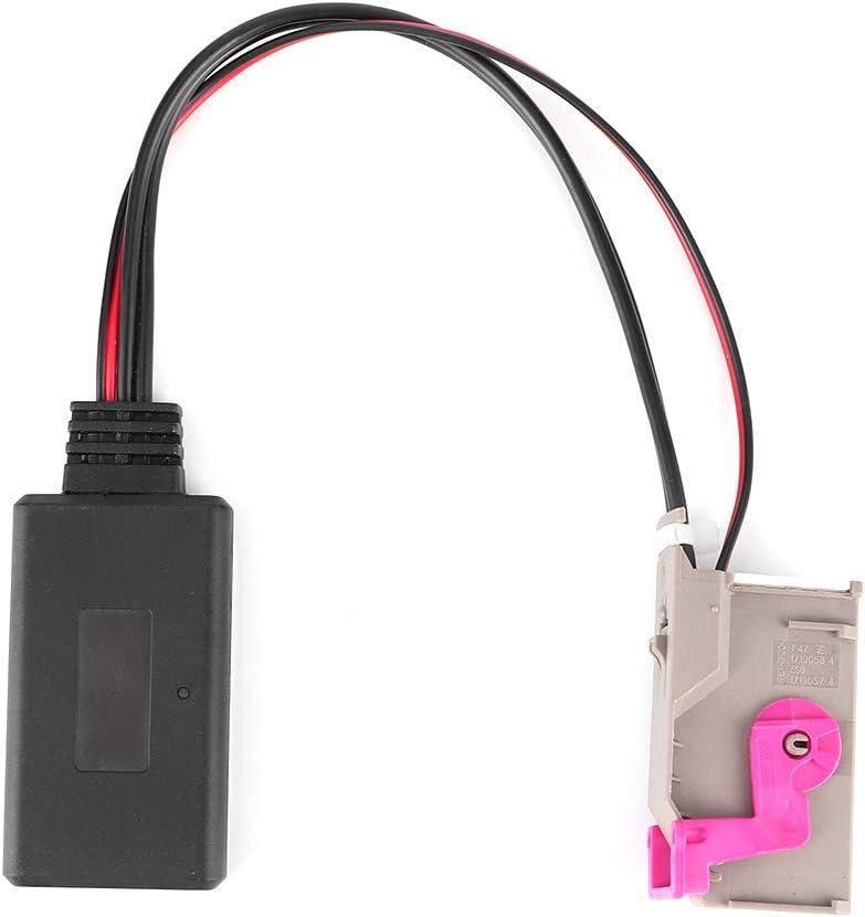 32PIN Adaptador de entrada de o Bluetooth para coche Módulo 5.0 Cable de entrada Bluetooth Wring Apto para navegación RNS-E A8 TT R8 A3 A4