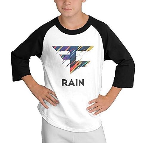 MULTY9 Faze Clan Rain Logo Child Youth 3/4 Baseball Tee Medium - Lost Soles Vinyl