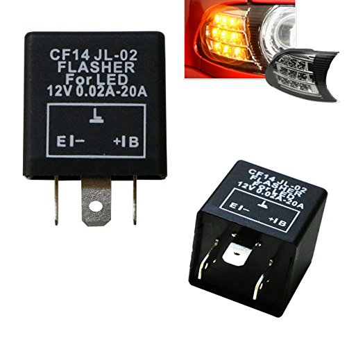 Bmw Turn Signal Relay (iJDMTOY (1) 3-Pin CF14 EP35 Electronic LED Flasher Relay For LED Related Turn Signal Bulbs Hyper Flash Fix)