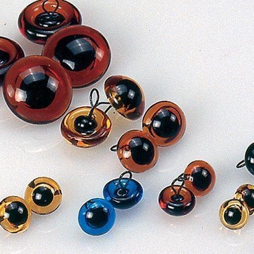 Sconosciuto EFCO-Occhi da animali, in vetro, colore: nero/giallo, 8 mm, 4 pezzi 1035509