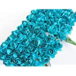 Worldoor-Pack-of-144pcs-Turquoise-Artificial-Mini-Paper-Rose-Flower-Wedding-Card-Scrapbooking-DIY-Craft-Embelishment
