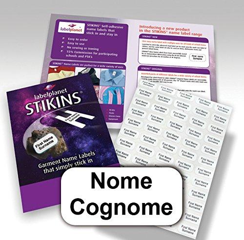 88 opinioni per 90 etichette adesive personalizzate per l'abbigliamento, STIKINS® Label Planet®,