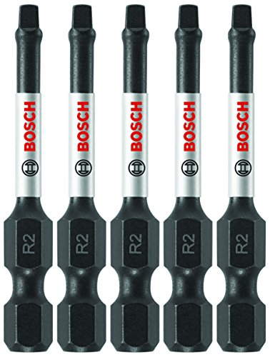 Bosch ITSQ2205 (5) Impact Tough 2 In. Square #2 Power Bits