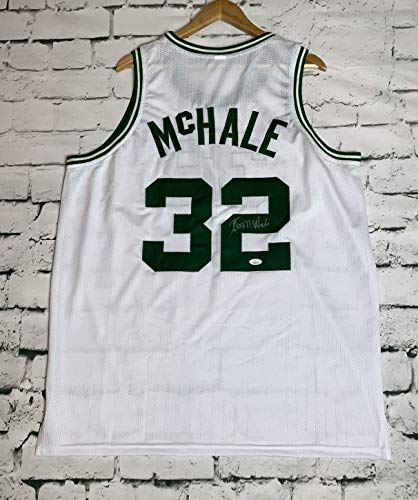 Kevin McHale Signed Autographed Boston Celtics White Basketball Jersey - JSA ()