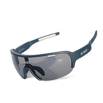 JING Hombres y Mujeres Montando Gafas de Sol Anti-UV ...