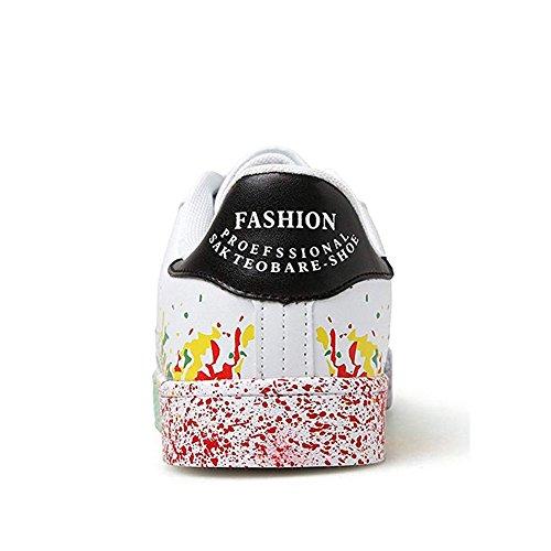 Colorée Impression Décontractée Hommes Baskets Sport De Mode Femmes Wyhweilong Chaussures Noir CxTqwWXYYS