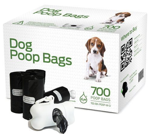 Gorilla Supply 700 Dog Pet Waste Poop Bags Black with Dispenser 9