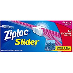 Ziploc Slider Storage Bags Gallon 60 Count