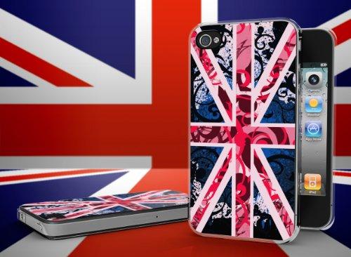 Master case - Coque iPhone 4/4S Drapeau UK Girly Grunge Translucide