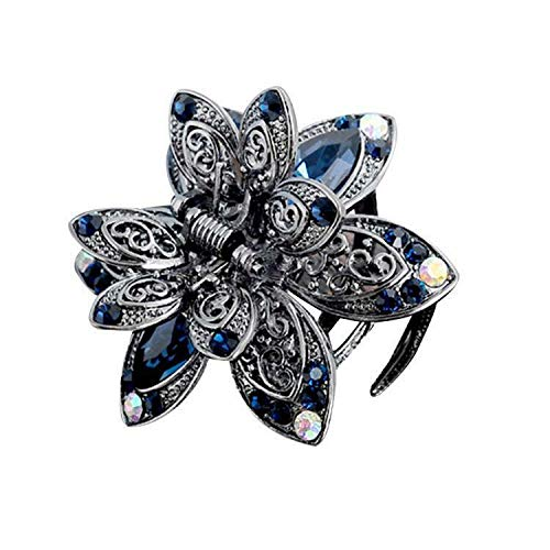 (New Womens Fashion Floral Shape Headband Hair Clip Head Piece RR6 (Colors - Blue))