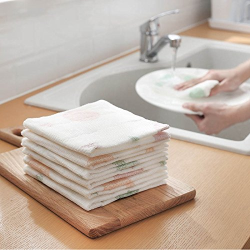 Houozon 30 30cm Cleaning rag, rag Strong Absorption of Non-Stick Oil, Thick Kitchen Gadgets, Washing Towels, Easy to Clean, Fast and Practical use. by Houozon