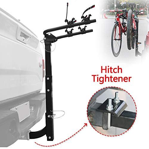 KAYCENTOP 2 Bike Rack Hitch Mount Bicycle Carrier Foldable Racks Universal Fit 2″ Receiver of Cars, Trucks, SUVs, Vans and Minivans