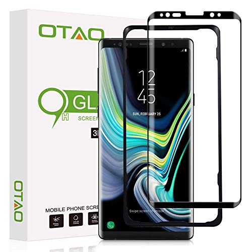 OTAO Galaxy Note 9 Screen Protector Tempered Glass, 3D Curved Dot Matrix [Full Screen Coverage] [Case Friendly] Note9 Glass Screen Protector with Installation Tray for Samsung Note 9